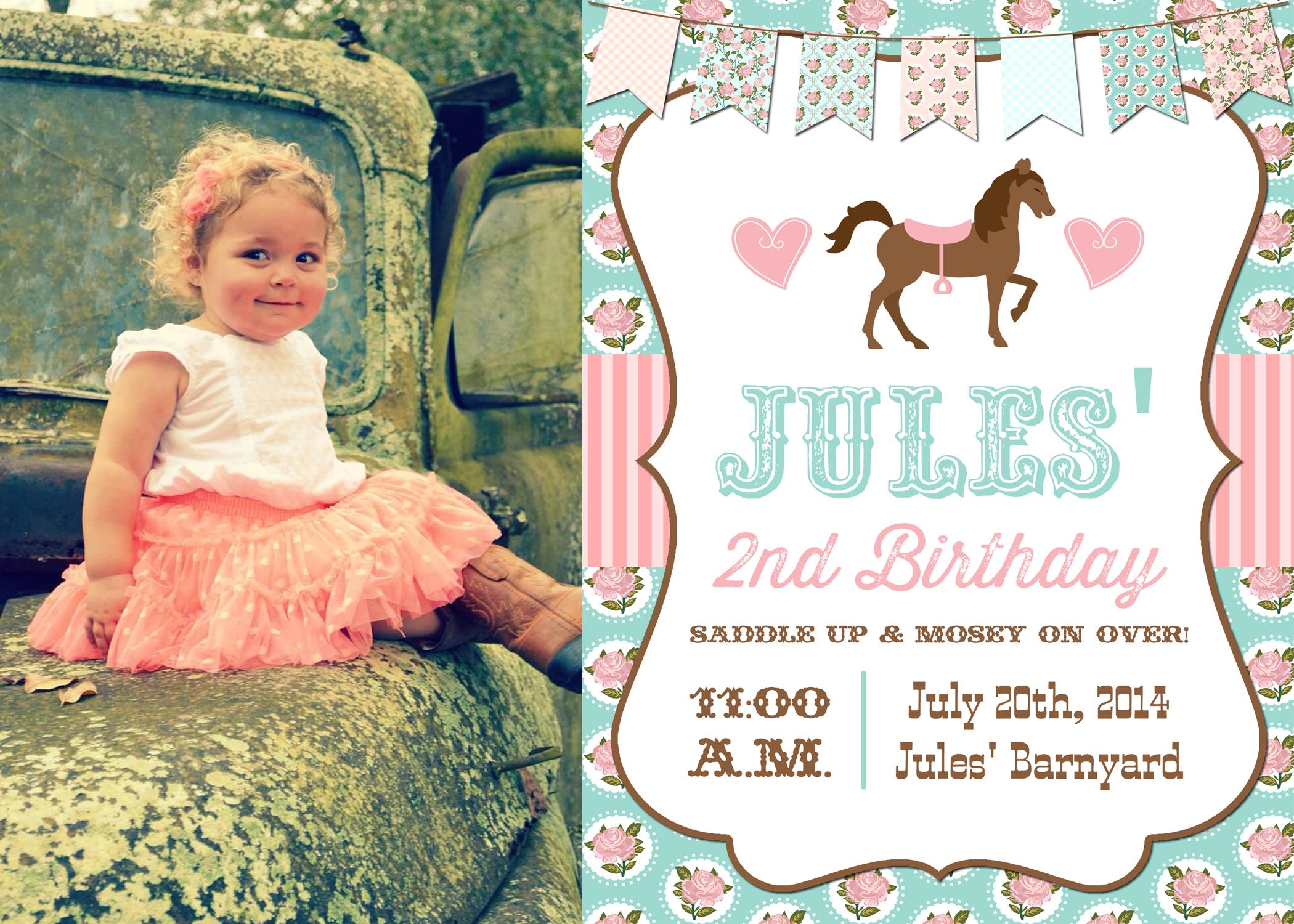 Jules\' 2nd Birthday Party – Shabby Chic Cowgirl – Hakuna Matata